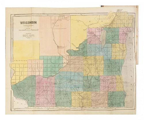 [WISCONSIN] A Groups of works about Wisconsin. Together, 2 works in 5 volumes.