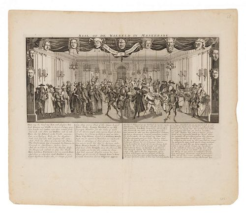 [MISSISSIPPI BUBBLE] [Het Griite Tafereel der Dwaasheid. Amsterdam, ca 1720]. A group of 28 engravings from Het Groote Tafere