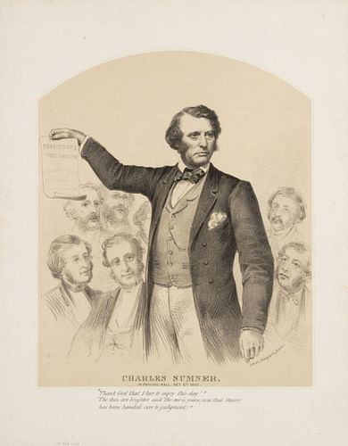 [PORTRAITS - POLITICAL FIGURES] A group of 19th-century lithographed and graved portraits of political figures. Together 14 p