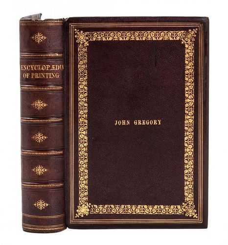 RINGWALT, Luther J. American Encyclopaedia of Printing. Philadelphia, 1871. FIRST EDITION.