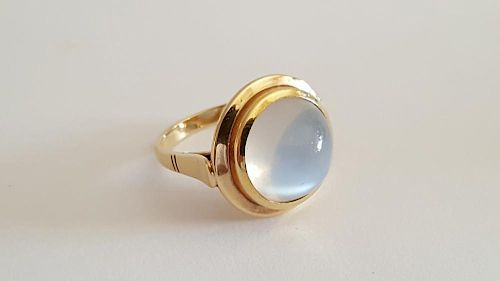 14K Gold and Moonstone Ring
