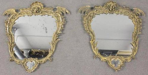 Pair of Antique Continental Gilded Rococo Style