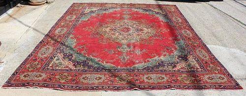 Semi Antique Roomsize Persian Carpet.