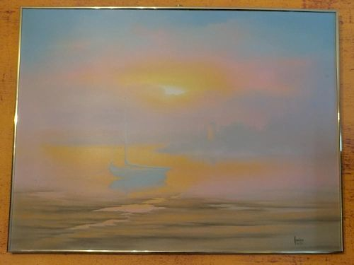 Oil on canvas signed by Kenneth F.Auchman