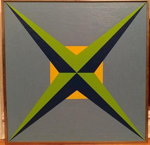 William E. Hutton 111 Dimentions Oil on Canvas1973