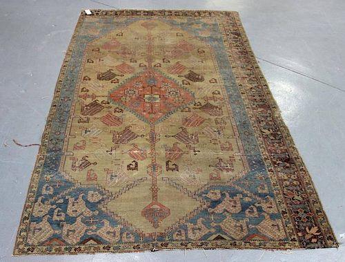 Antique Handmade Serapi Carpet.
