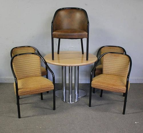 Midcentury Dinette Set Including Lacquered Chairs.