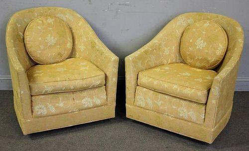 Midcentury Pair of Harvey Probber Swivel Chairs.