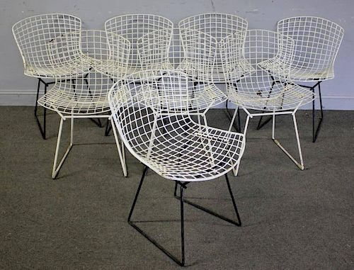 8 Harry Bertoia for Knoll Wire Chairs.