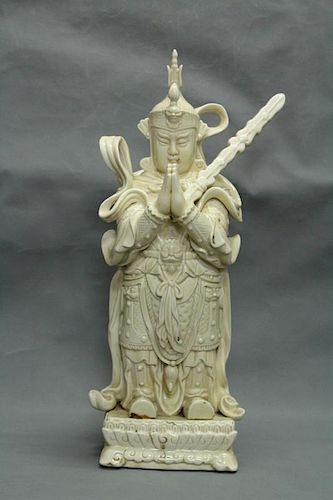 Chinese Chine De Blane Porcelain Figure