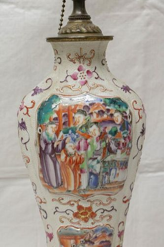 Pair of 18th C. Chinese Export Vase