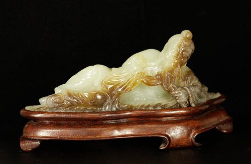 Republic Period Chinese Jade Carving of an Old Man