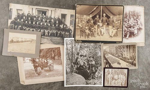 Group of McCornack-Foote family photographs, ca. 1900, to include a hide scrap book containing fifte