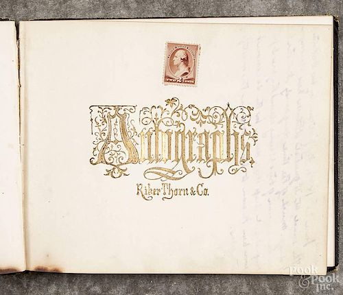 Autograph book, signed by New York State Senators, ca. 1856, contains ninety-six signatures.