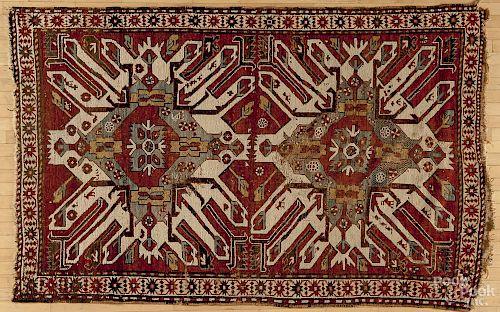 Eagle Kazak carpet, 7'8'' x 5'.