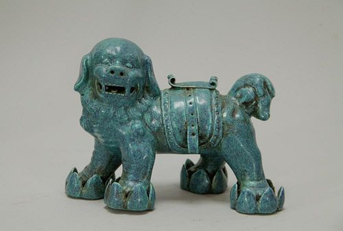 Qing Dynasty Chinese Porcelain Lion