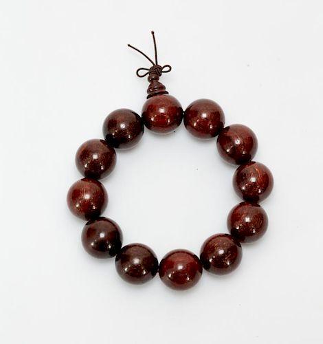 Chinese Xiao Ye Zi Tan Beads Bracelet
