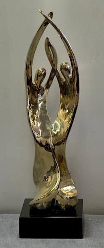 LOCKE, Gardner. 1977 Polished Bronze. Dancing
