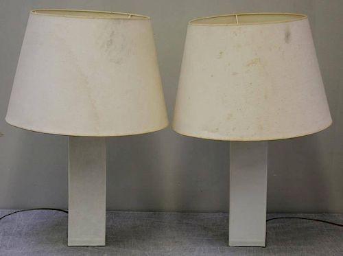 Pair of Robsjohn-Gibbings for Hansen Lamps.