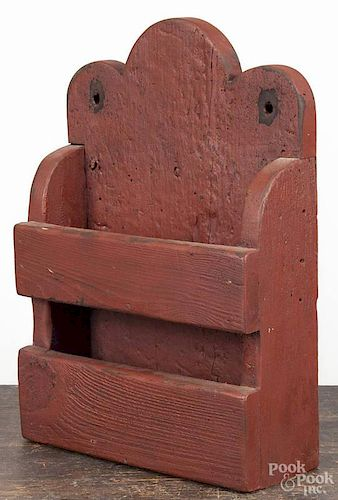 Contemporary painted pine wall box, 17 1/4'' h., 11 3/4'' w.
