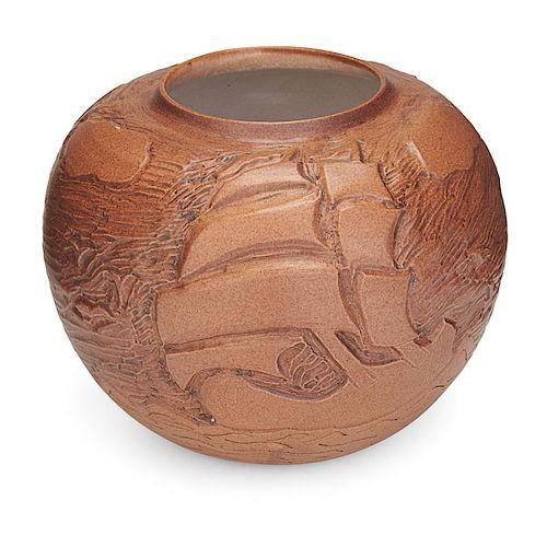 NORTH DAKOTA SCHOOL OF MINES Vase with ships
