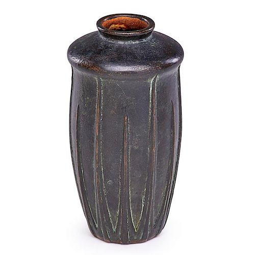 VAN BRIGGLE Copper-clad vase