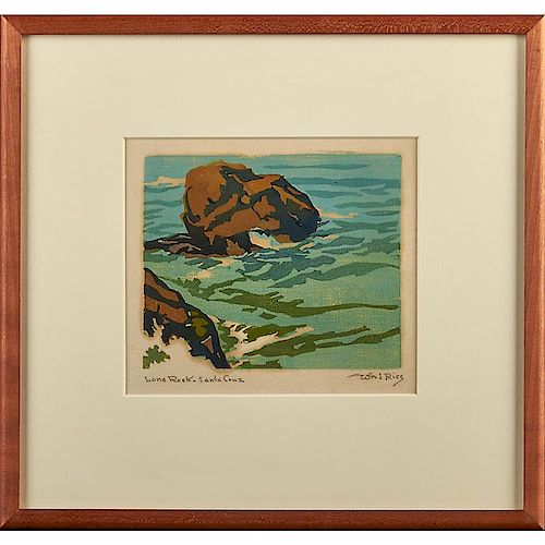 WILLIAM S. RICE Four woodblock prints