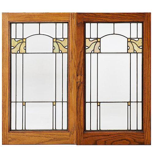ARTS & CRAFTS Pair of windows