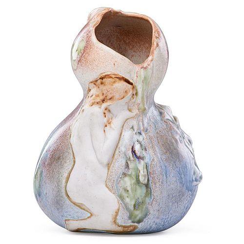 A. FINOT; JOSEPH AND PIERRE MOUGIN Gourd vase