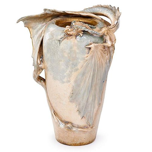EDUARD STELLMACHER; RSTK Large dragon vase