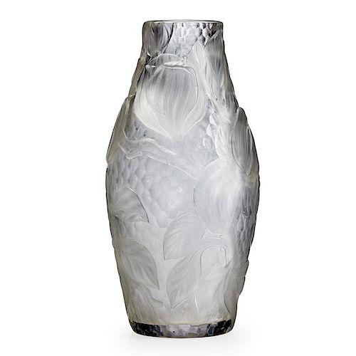 TIFFANY STUDIOS Fine wheel-carved vase