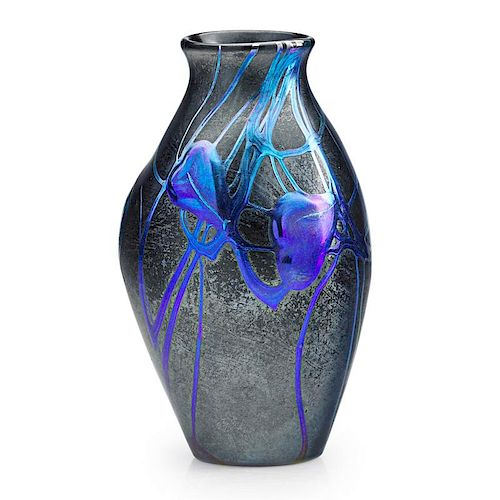 TIFFANY STUDIOS Rare glass vase