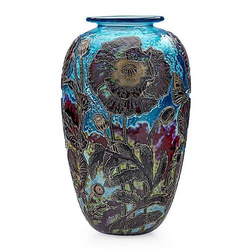 JONATHAN HARRIS Cameo glass vase