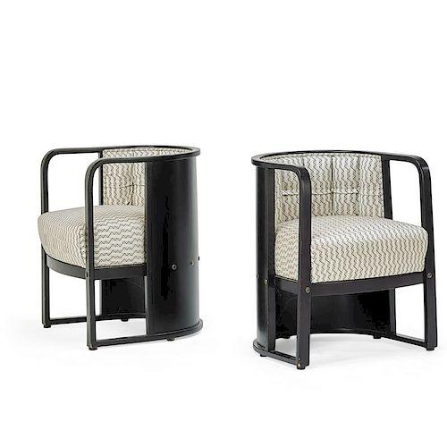 JOSEF HOFFMANN Pair of armchairs