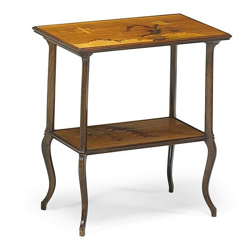 EMILE GALLE Tiered side table