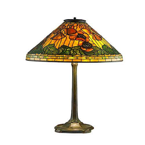 TIFFANY STUDIOS Fine Poppy table lamp