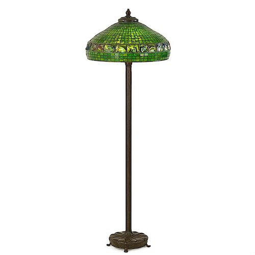 TIFFANY STUDIOS Turtleback floor lamp