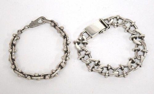 Silver Men's Chain Bracelets, 2 incl. Sterling