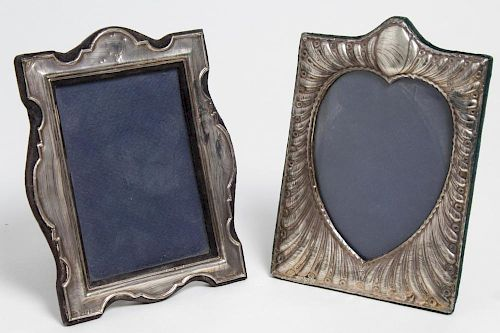 Sterling Silver Frames, English, incl. Heart-Shape