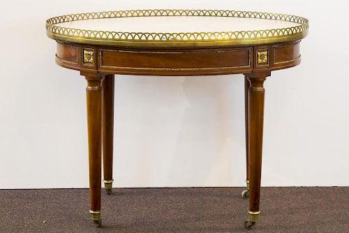 Georges Jacob Louis XVI Marble & Mahogany Table