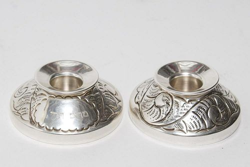 Judaica Sterling Silver Nesting Sabbath Candles