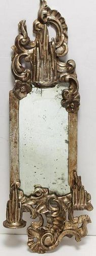 Italian Rococo Silver-Gilt Wall Mirror
