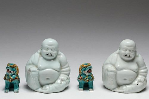 Chinese Export Porcelain Figurines, Group of 4