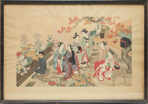 Nishikawa Sukenobu (Japanese,1671-1750)- Woodblock