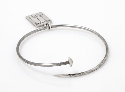 A Sterling Silver Knitting Needle Bangle Charm Bracelet, Nomotta, 12.30 dwts.