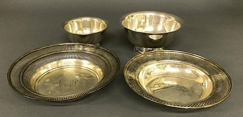 Two Sterling Silver Centerpiece Dishes