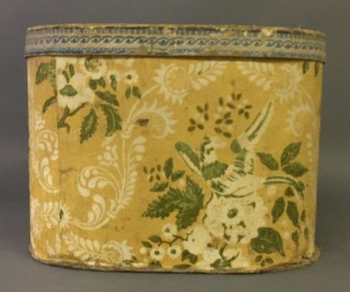 Large Wallpapered Hat Box