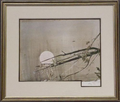 "Andrew Wyeth Hand Signed Print ""Full Moon"""