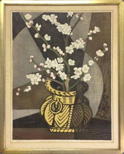 Tomoo Inagaki Signed Woodcut