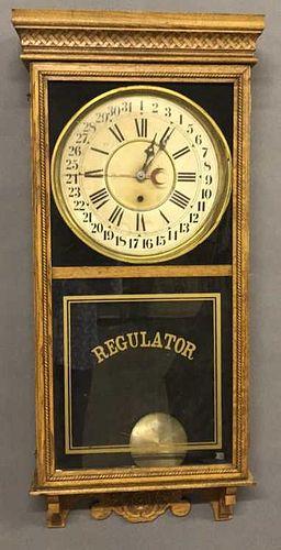 Oak Calendar Regulator Clock